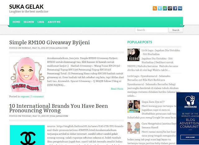 Blog Bertukar Wajah.