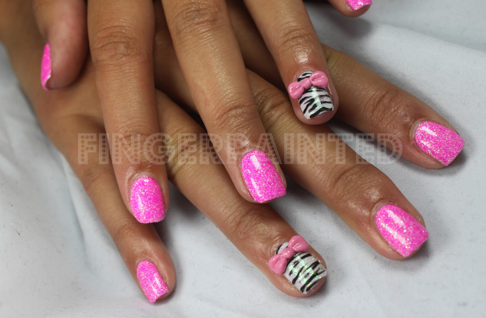 Nail Design With Bows | Nail Designs, Hair Styles, Tattoos and Fashion