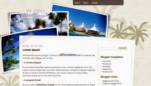 Vc Bliss - Free Blogger Template
