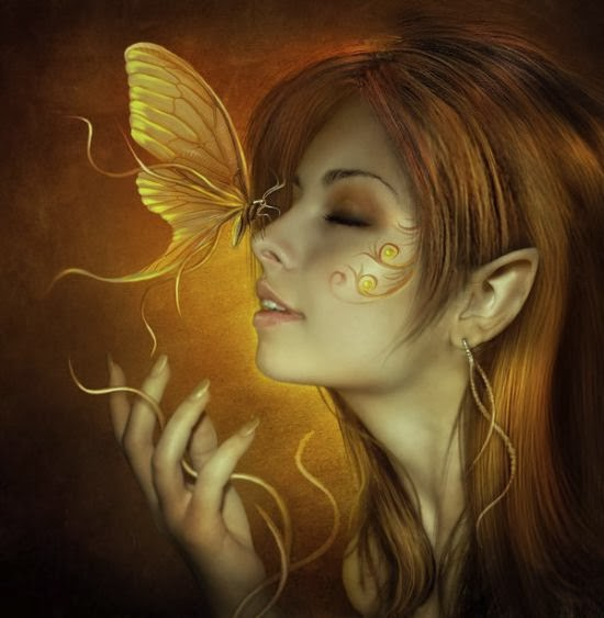 Elena Dudina deviantart art photomanipulation photoshop fantasy surreal dark women beautiful Butterflies