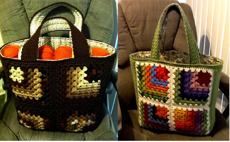 Evanescence : mitered granny square tote