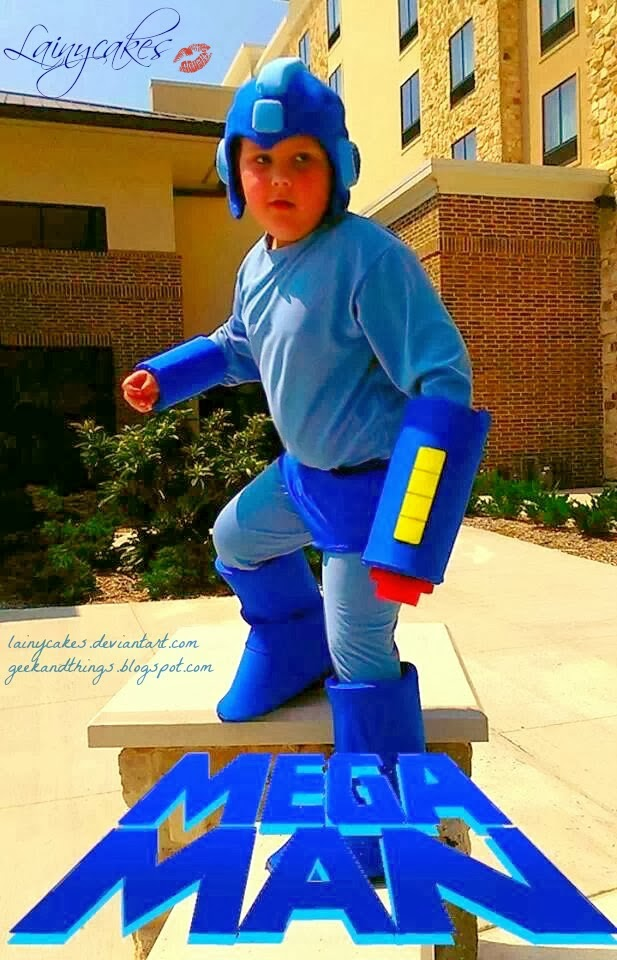 Kids Mega Man Cosplay