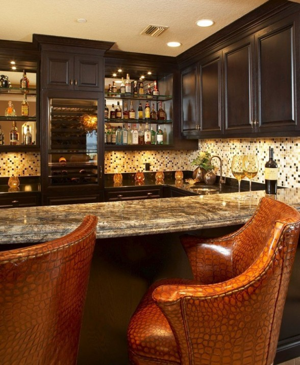 Stunning Simple Home Bars Pictures 3D House Designs Veerle Us