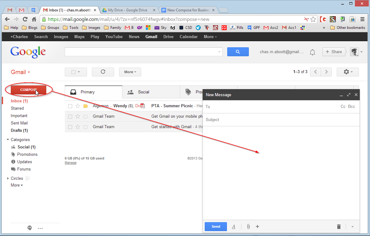 open other gmail