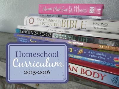 Homeschool Curriculum 2015-2016 {The Unlikely Homeschool}