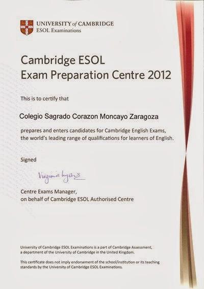 The English Corner: Our School is a Cambridge ESOL Exam Preparation ...