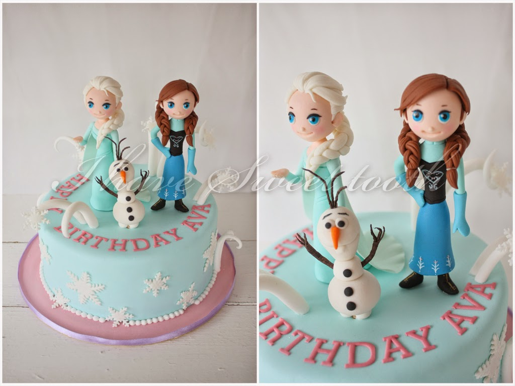 Have sweet tooth ava s frozen theme cake
