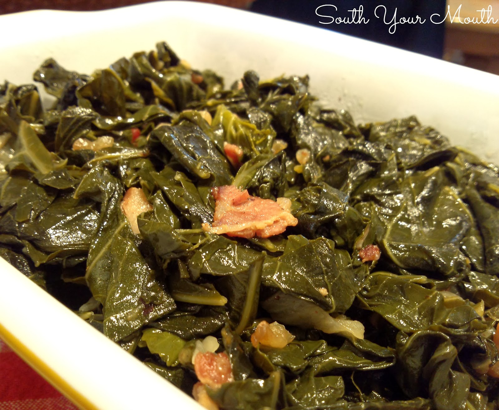 southern style collard greens 1 2 bunches fresh collard greens