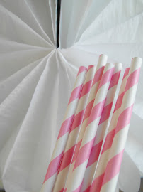Paperstraws kaugummirosa/weiss