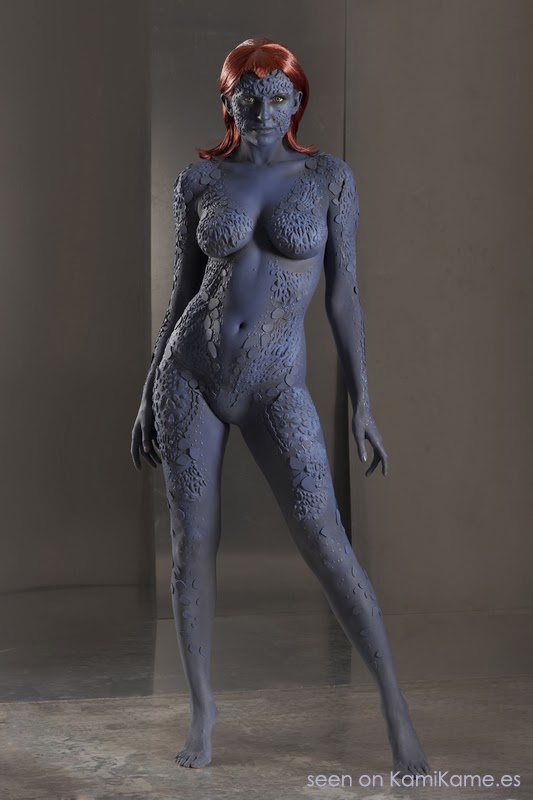 body paint et maquillage de Mystique