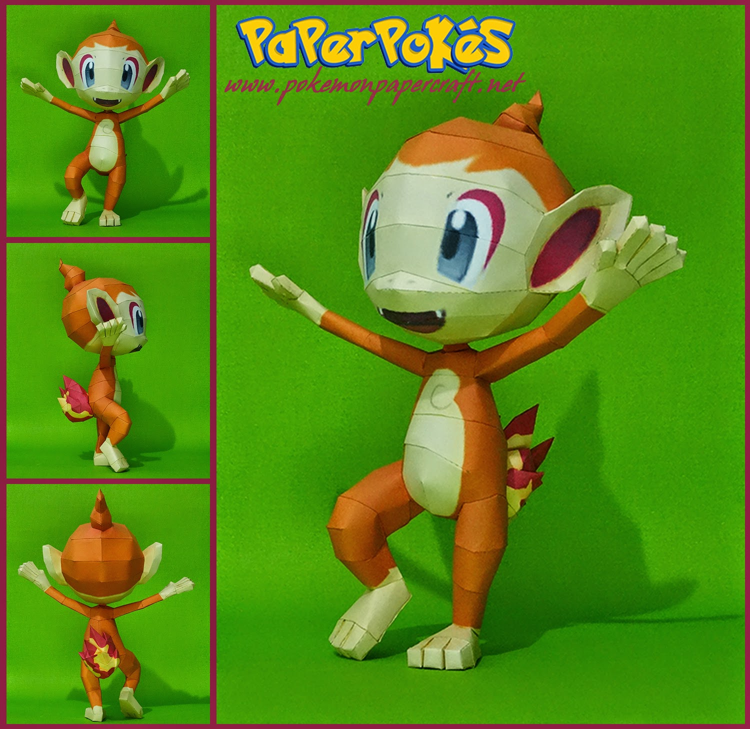 Chimchar Paper Model