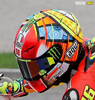 number 58 helmet rossi