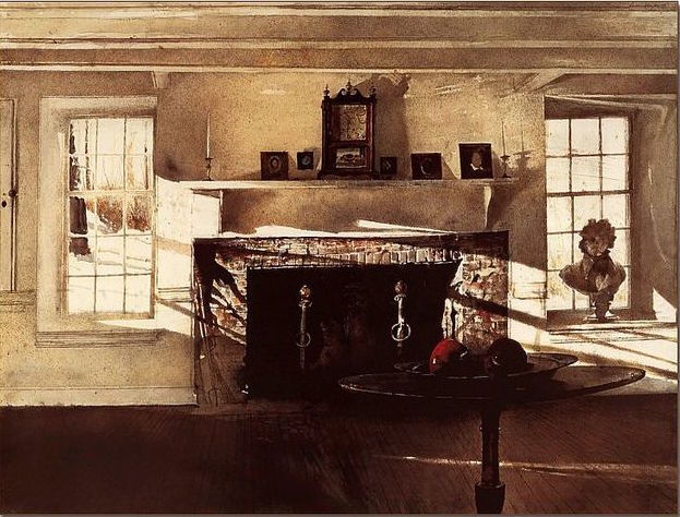 The Big Room By Andrew Wyeth, 1948  Three Years After His Fatheru0027s Untimely  Death. The Younger Wyeth Has Stripped The Room Of Comfort And Coziness And  ...