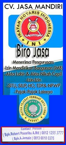 Biro Jasa Mengurus Izin-Izin di Jambi dan Sekitarnya, CV Jasa Mandiri