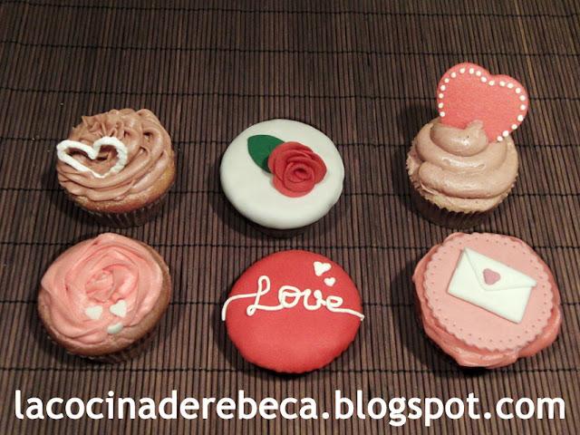 Cupcakes románticos para San Valentín