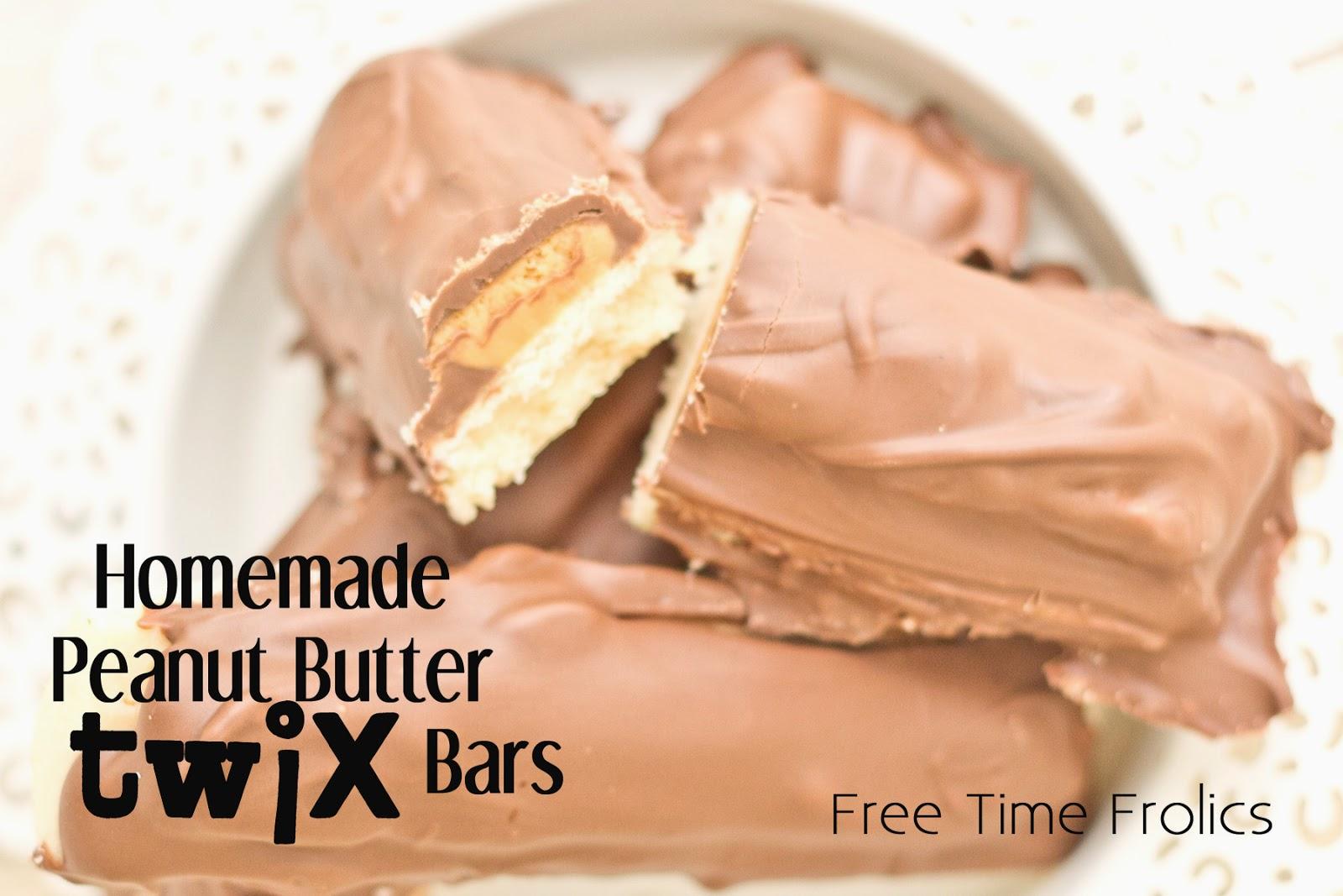 Homemade Peanut Butter Twix www.freetimefrolics.com #recipe