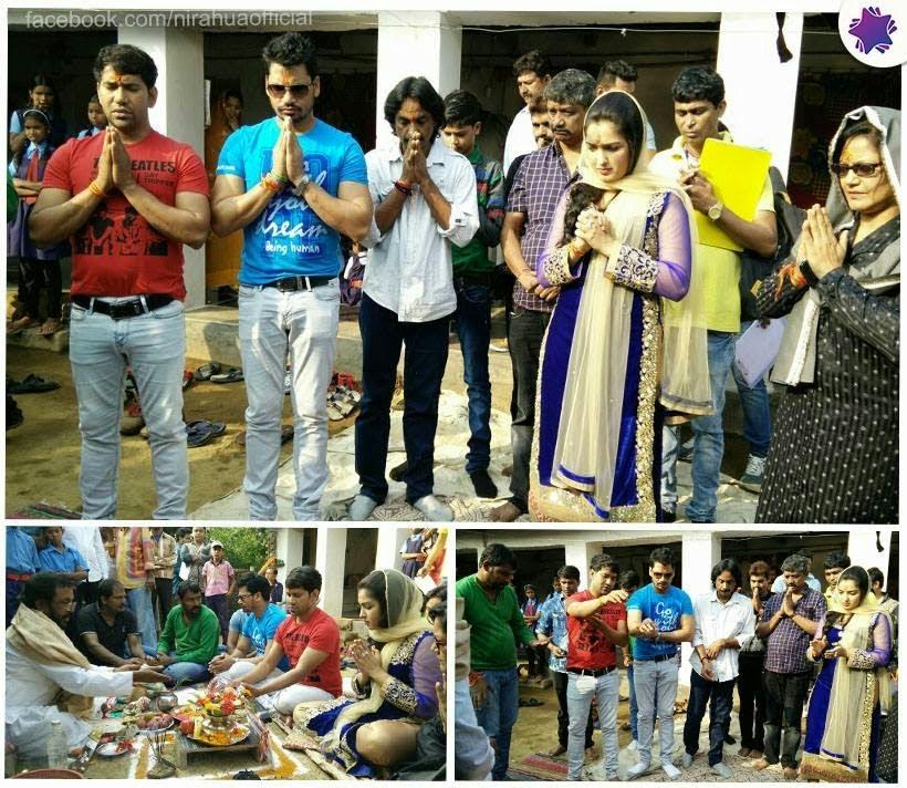 "Shooting Start Of Dinesh Lal Yadav film ""Nirahua Rikshawala 2"""
