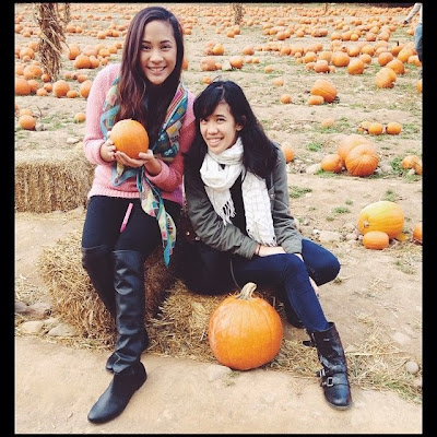 Melissa and Alexa pumpkin picking