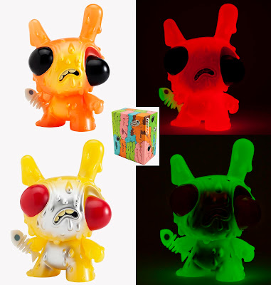 "Meltdown Glow in the Dark 8"" Dunny by Chris Ryniak - Orange and Yellow Editions"