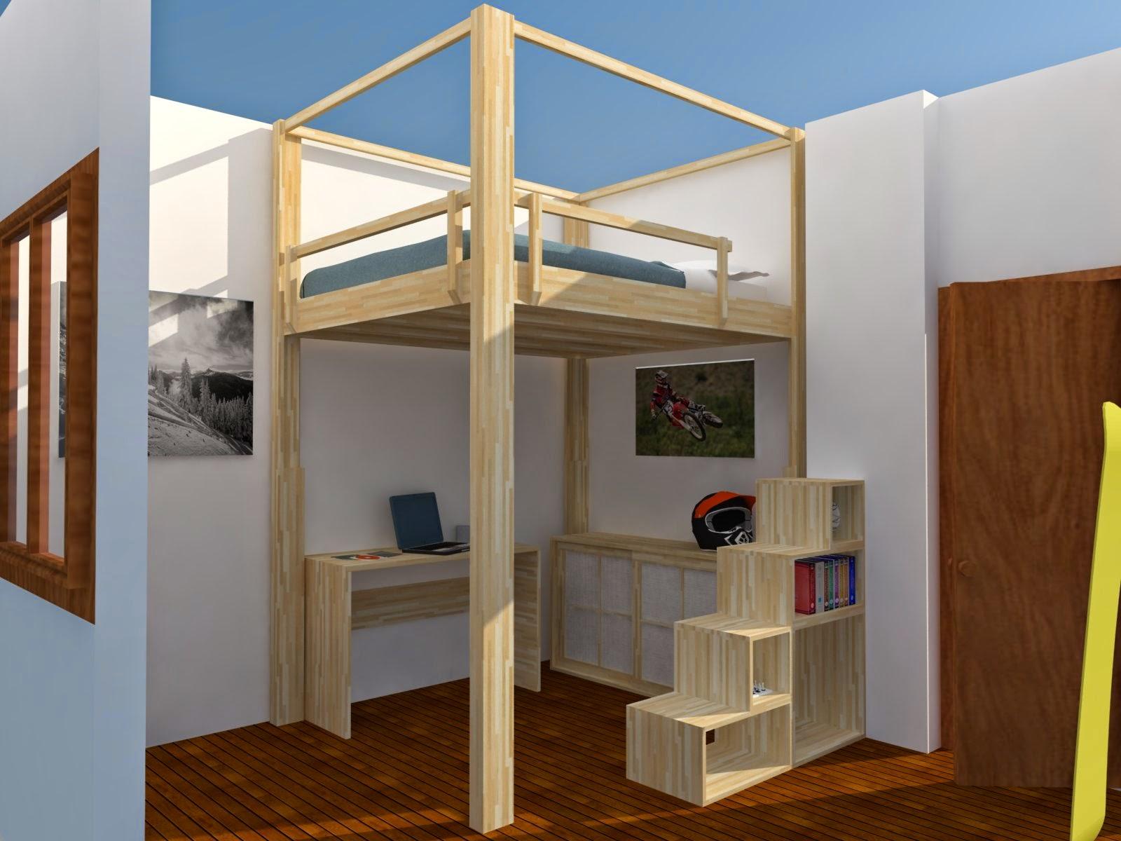 Soppalco in legno esempi letti a soppalco - Letto soppalco legno ...
