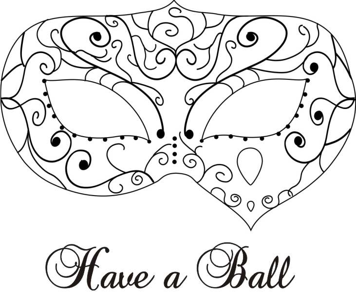 Crimson cloud card making supplies have a ball for Masquerade ball masks templates