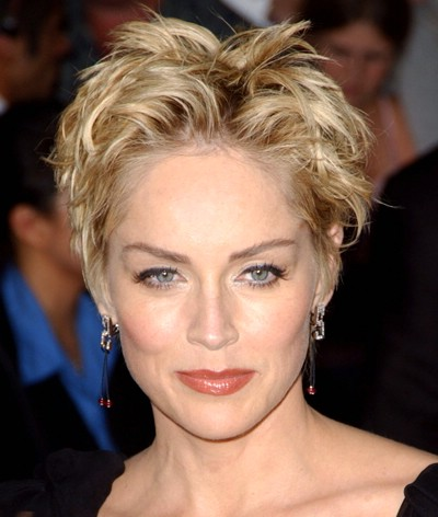Sharon Stone Over 50 Hair Cut With Back View | Short Hairstyle 2013