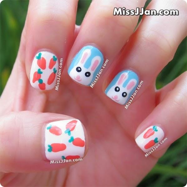 Easter Bunny Nail Art: MissJJan's Beauty Blog ♥: {Tutorial} Easter Bunny Nail Art