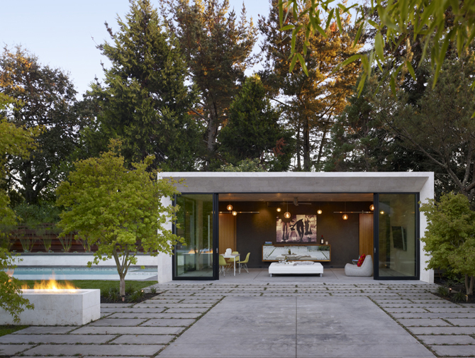 Modern pool house in sonoma modern design by - Modern house with pool ...