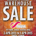 2 - 5 April 2015 Branded Apparels Warehouse Sale
