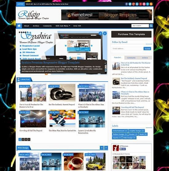 Rifqy - Responsive Blogger Template