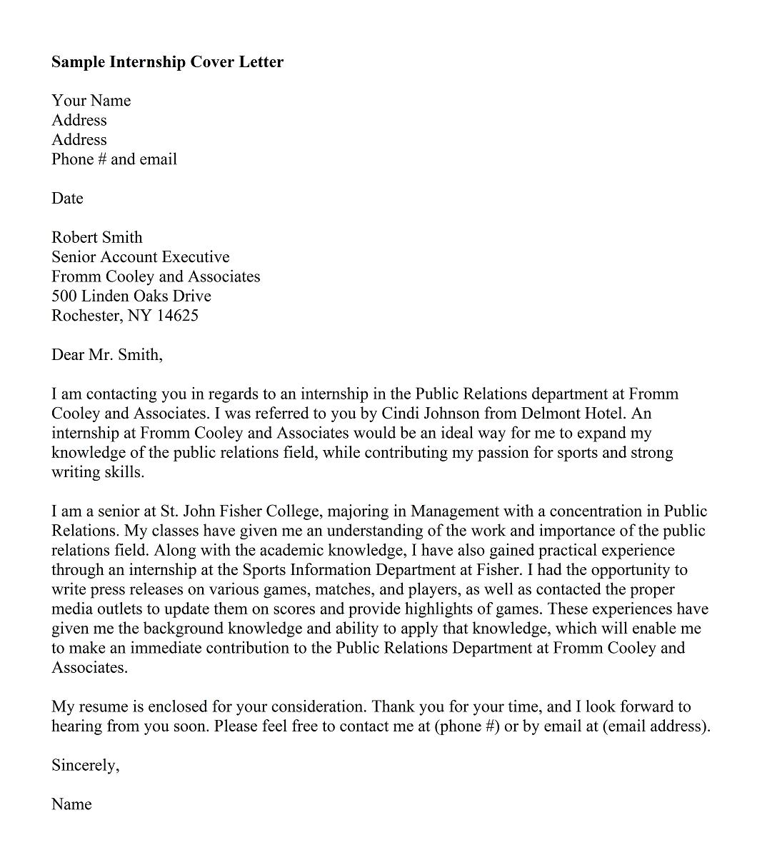 cover letter example - Sample Of Best Cover Letter