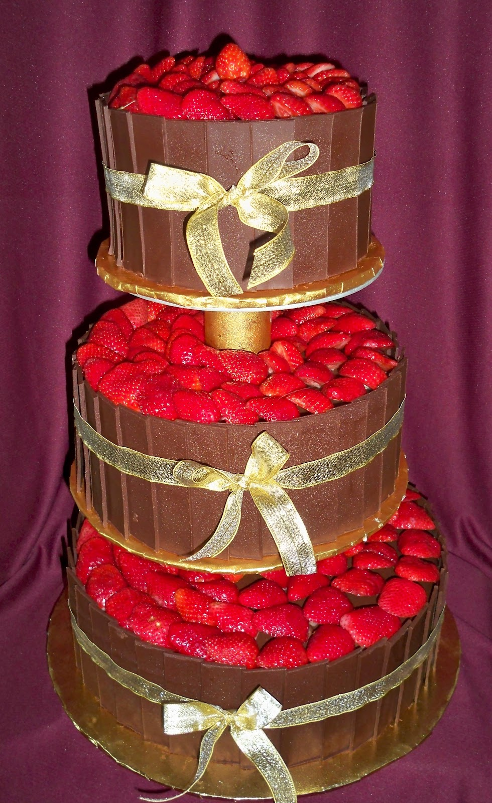 Chocolate And Strawberry Wedding Cakes