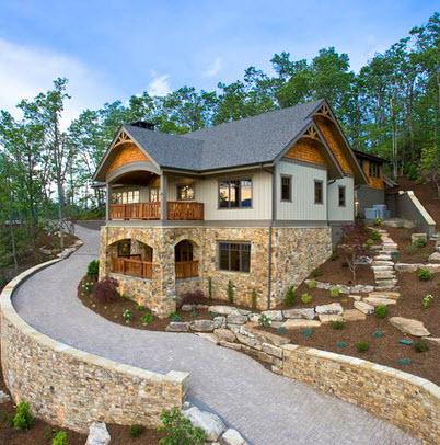 Fachadas de casas r sticas dise os y materiales - Casas de piedra y madera ...