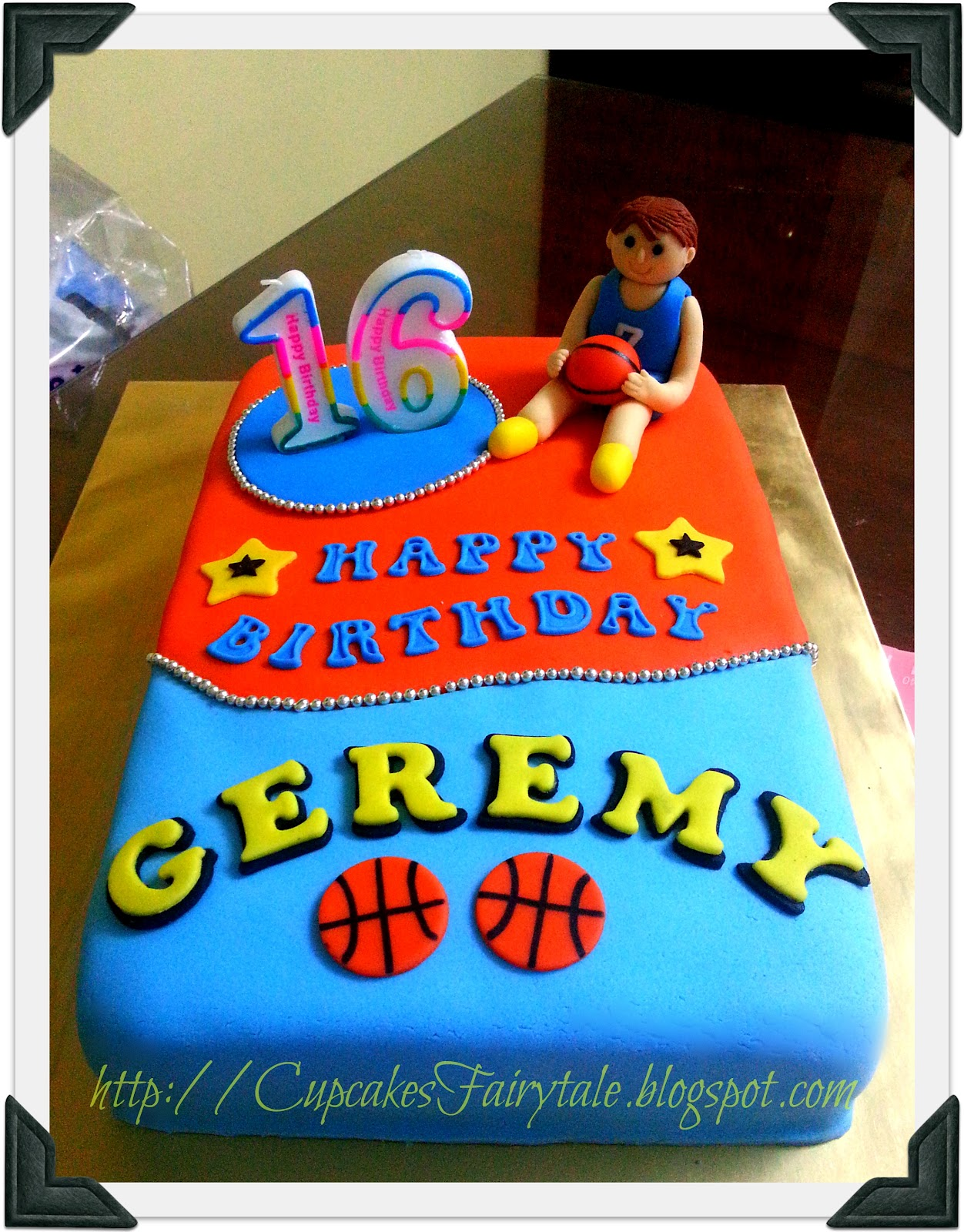 Cupcakes Fairytale Geremys Basketball Theme Birthday Cake