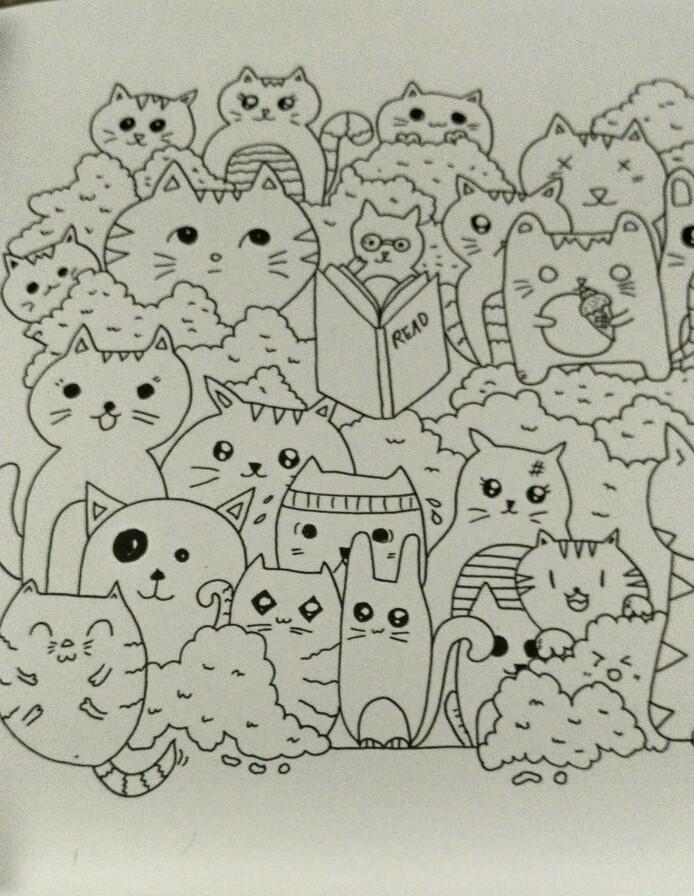 Mewarnai Gambar Doodle dengan Patterning