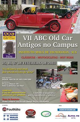 Cartaz promocional do VII ABC Old Car - clique na imagem para ampliar.