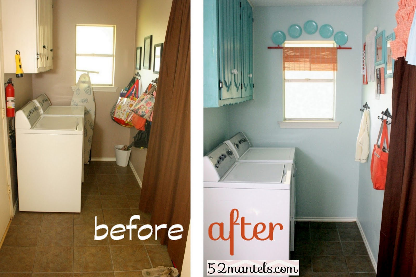 52 Mantels: Laundry Room Makeover!