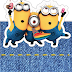 Minions: Free Printable Original Nuggets or Gum Wrappers.