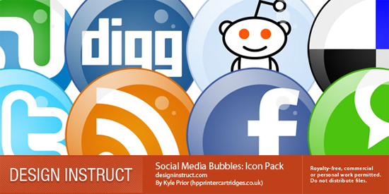 Social Media Bubbles: Icon Pack