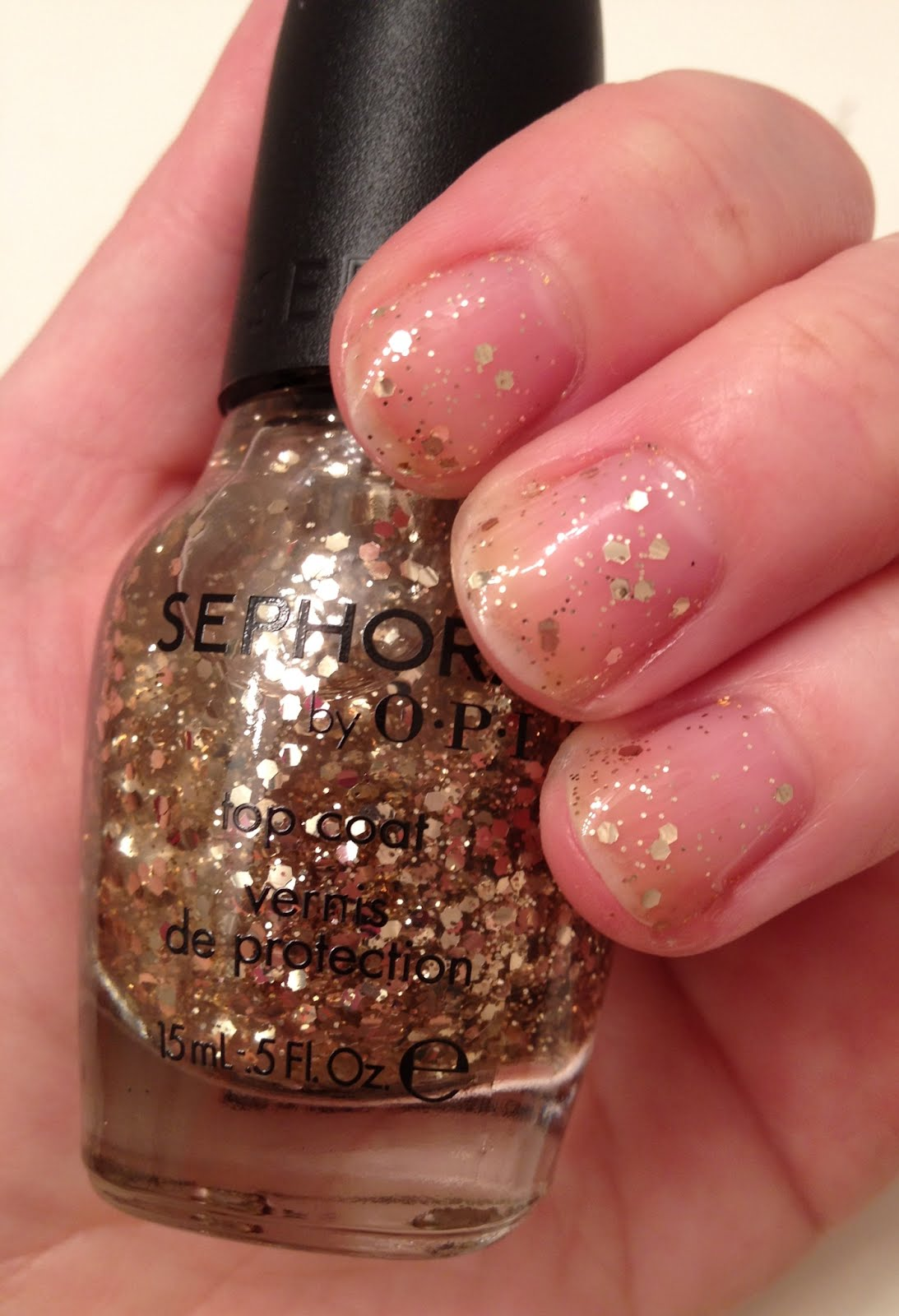 The Beauty of Life: Sephora by OPI Gold Top Coat Swatches