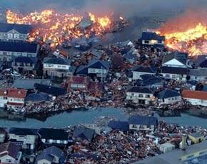 Fotos de satélite, antes e depois do tsunami no Japão