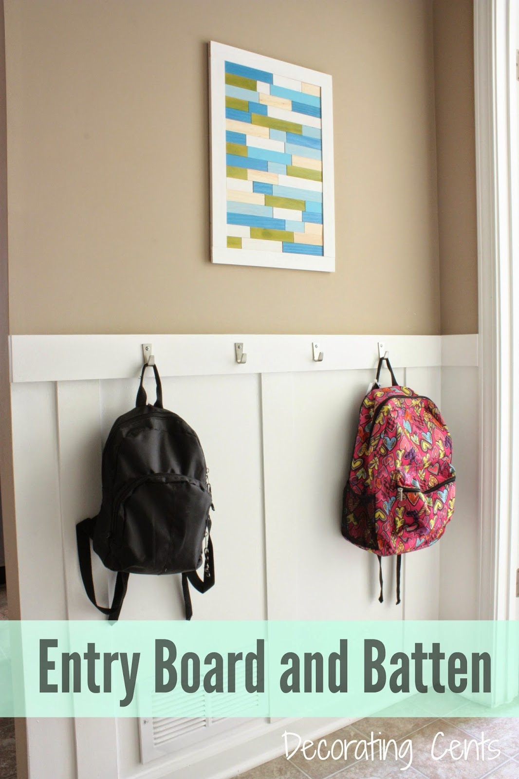 Decorating Cents: Board and Batten in the Back Entry