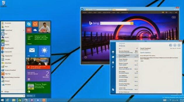 Windows 9 Hadir Menunjukkan Kematian pada Window 8