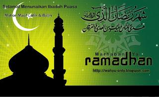 Menjelang Bulan Suci Ramadhan - wahyu only