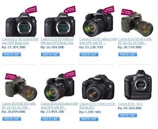 Daftar Harga Kamera Digital SLR Murah Canon Juli 2013