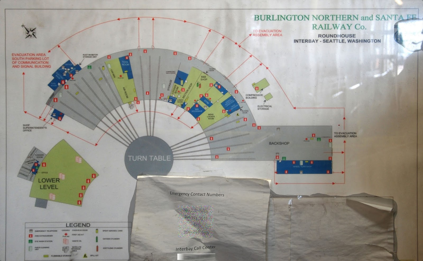 map of interbay roundhouse photo by andrew klamka