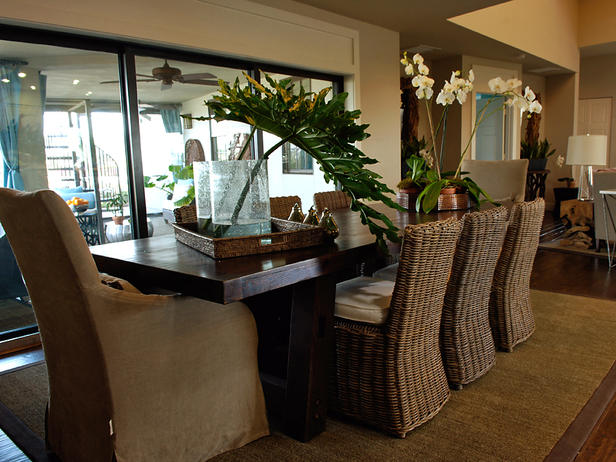 Kanes Furniture: Tropical Dining Room Decorating Ideas 2012 from HGTV