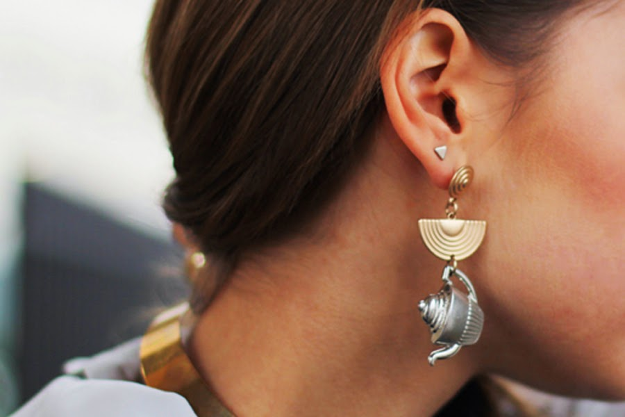 detail earring berlin fashion week style