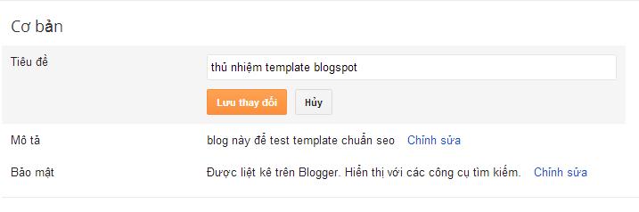 Tối ưu hóa seo cho blogspot