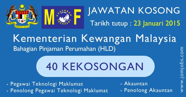 Jawatan Kosong Kementerian Kewangan Malaysia (MOF) 2015